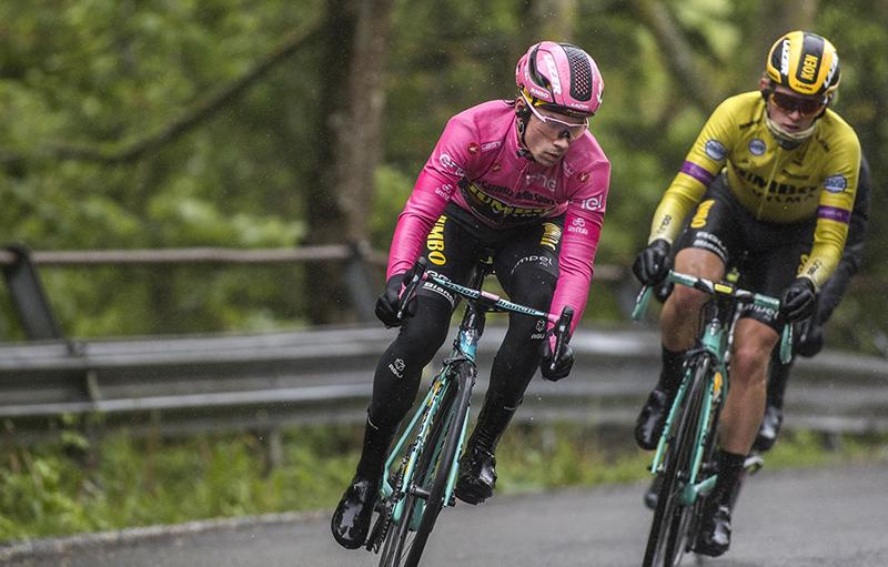 Primoz Roglic takes Pink Jersey