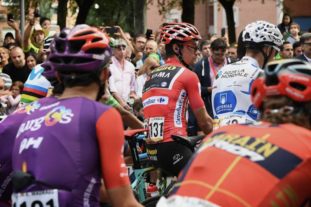 Primoz Roglic at Vuelta