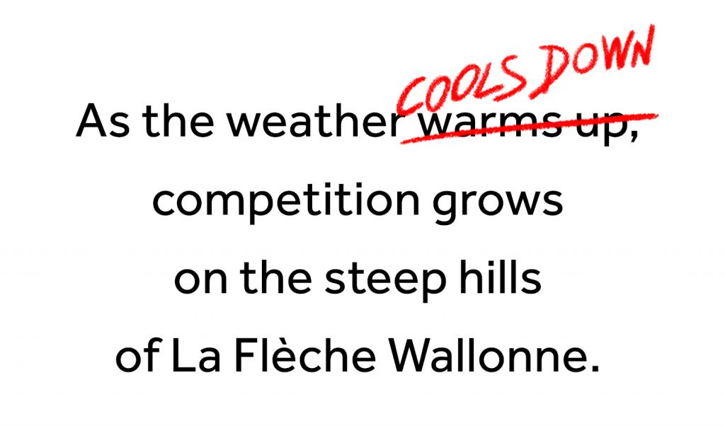 Re-start La Flèche Wallonne