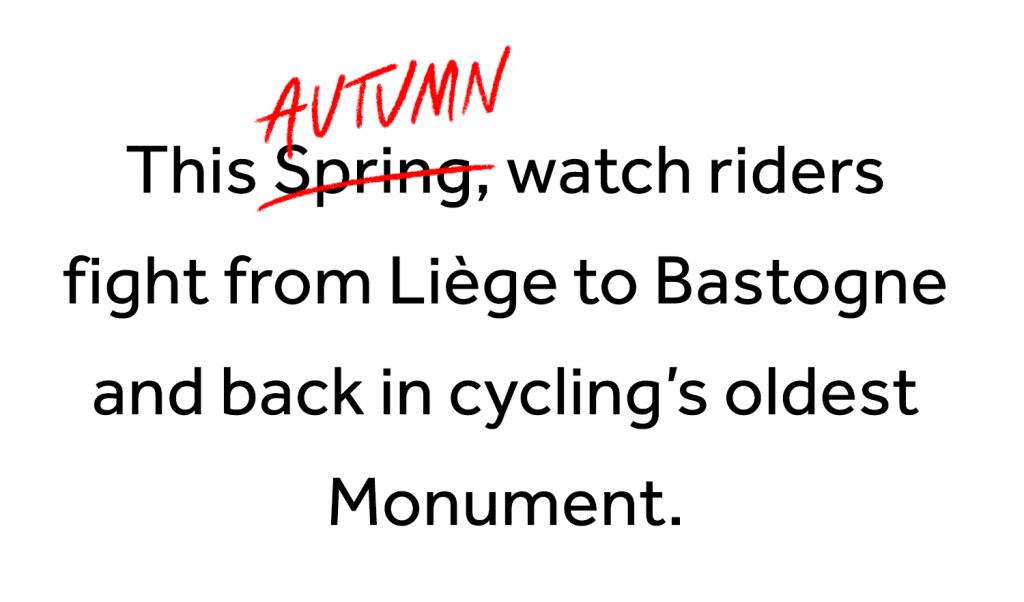 Re-start Liège-Bastogne-Liège